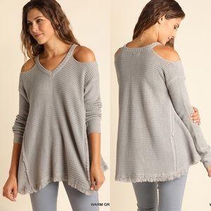 ELYSE Knit Sweater - GREY